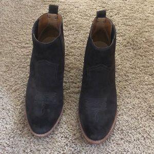 Dark grey dolce vita booties size 9 worn once
